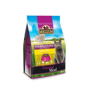 Сухой корм для стерилизованных кошек Meglium Natural Meal Neutered c курицей, с рыбой 400 г