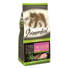 Сухой корм для котят PRIMORDIAL Grain Free Kitten беззерновой, с уткой, с индейкой 400 г