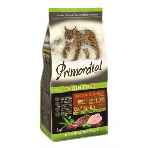 Сухой корм для кошек PRIMORDIAL Grain Free Cat Adult Duck Turkey беззерновой, c уткой, с индейкой 2 кг