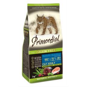 Сухой корм для кошек PRIMORDIAL Grain Free Cat Adult Salmon Tuna беззерновой, c лососем, с тунцом 2 кг