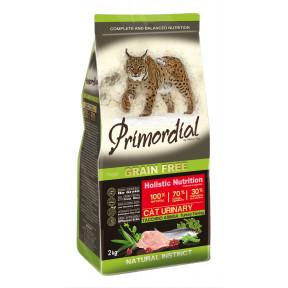 Сухой корм для кошек PRIMORDIAL Grain Free Cat Urinary Turkey Farring беззерновой, для профилактики МКБ, с индейкой, с сельдью 2 кг