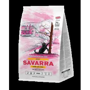 Сухой корм для кошек SAVARRA Adult с ягненком, с рисом 12 кг