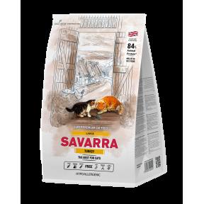 Сухой корм для кошек крупных пород SAVARRA Large гипоаллергенный, с индейкой, с рисом 12 кг