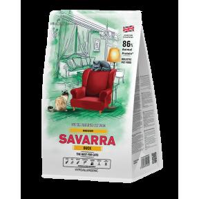 Сухой корм для кошек, живущих в помещении SAVARRA Indoor гипоаллергенный, c уткой, с рисом 12 кг