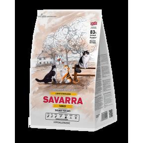 Сухой корм для стерилизованных кошек SAVARRA Light Sterilized при избыточном весе, с индейкой, с рисом 12 кг