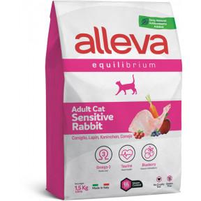 Сухой корм для кошек Alleva Equilibrium Adult Sensitive с кроликом 400 г