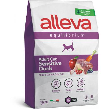 Сухой корм для кошек Alleva Equilibrium Adult Sensitive с уткой 1.5 кг