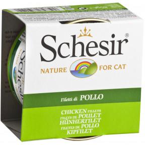 Влажный корм для кошек SCHESIR с курицей (кусочки в желе) 85 г