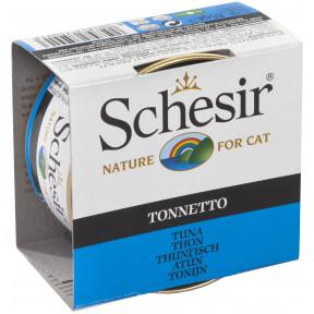 Влажный корм для кошек SCHESIR с тунцом (кусочки в желе) 85 г