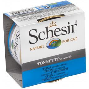 Влажный корм для кошек SCHESIR с тунцом (кусочки в соусе) 85 г