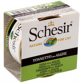 Влажный корм для кошек SCHESIR с тунцом, с водорослями (кусочки в желе) 85 г