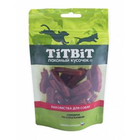 Лакомство для собак TitBit Золотая коллекция Говядина по-строгановски 80 г