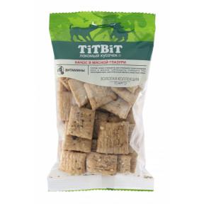 Лакомство для собак TitBit Золотая коллекция Начос в мясной глазури 130 г