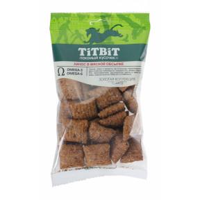 Лакомство для собак TitBit Золотая коллекция Начос в мясной обсыпке 75 г
