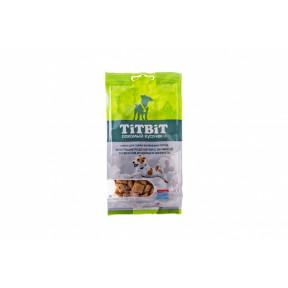 Лакомство для собак TitBit Хрустящие подушечки с начинкой со вкусом индейки и шпината 95 г