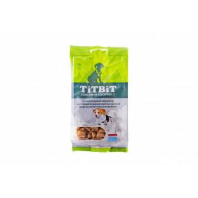 Лакомство для щенков TitBit Хрустящие подушечки с начинкой со вкусом кролика и творога 95 г
