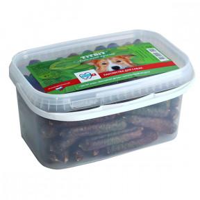 Лакомство для собак TitBit Колбаски мини, банка 3.3 л, 1.6 кг