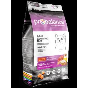 Сухой корм для кошек ProBalance Adult Gourmet Diet с говядиной, с ягненком 1.8 кг