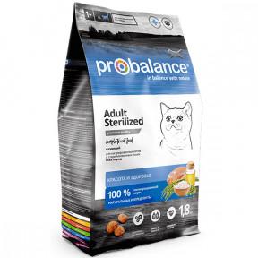 Сухой корм для стерилизованых кошек ProBalance Adult Sterilized с курицей 1.8 кг