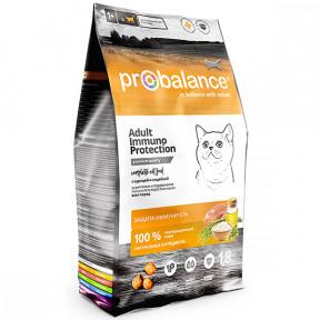 Сухой корм для кошек ProBalance Adult Immuno Protection с курицей, с индейкой 1.8 кг