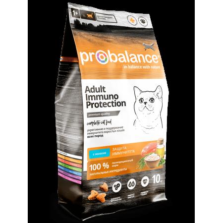 Сухой корм для кошек ProBalance Adult Immuno Protection с лососем 10 кг