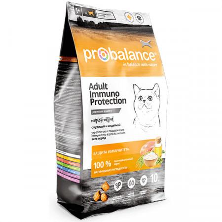 Сухой корм для кошек ProBalance Adult Immuno Protection с курицей, с индейкой 10 кг