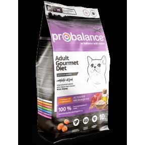 Сухой корм для кошек ProBalance Adult Gourmet Diet с говядиной, с кроликом 10 кг