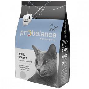 Сухой корм для кошек ProBalance Hair&Beauty для красивой шерсти, с мясом птицы 400 г