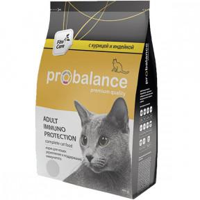 Сухой корм для кошек ProBalance Adult Immuno Protection с курицей, с индейкой 400 г