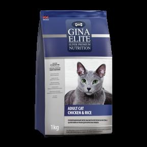 Сухой корм для кошек GINA Elite Adult Cat Курица с рисом 1 кг