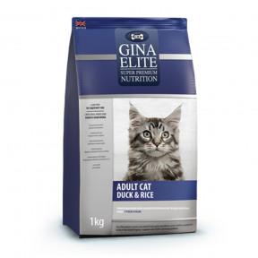 Сухой корм для кошек GINA Elite Adult Cat Утка с рисом 1 кг