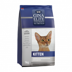 Сухой корм для котят GINA Elite Kitten с курицей 1 кг
