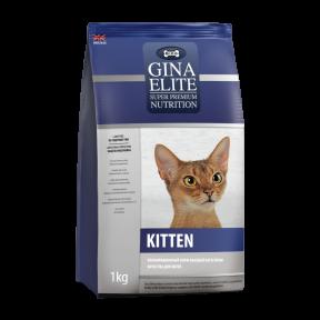 Сухой корм для котят GINA Elite Kitten с курицей 3 кг