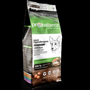 Сухой корм для собак ProBalance Adult Hypoallergenic гипоаллергенный, при чувствительном пищеварении, с мясом птицы 15 кг