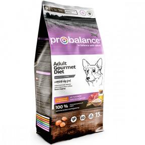 Сухой корм для собак ProBalance Adult Gourmet Diet с говядиной, с кроликом 15 кг