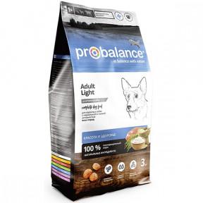 Сухой корм для собак ProBalance Adult LIGHT при низкой активности, с мясом птицы 3 кг