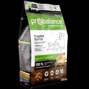 Сухой корм для щенков от 3 недель до 3 месяцев, для беременных/кормящих сук ProBalance Puppies Starter с мясом птицы 10 кг