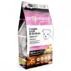 Сухой корм для щенков ProBalance Puppies Small&Medium с мясом птицы (для средних и мелких пород) 10 кг