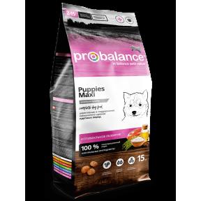 Сухой корм для щенков ProBalance Puppies Maxi с мясом птицы (для крупных пород) 15 кг