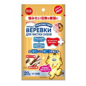 Лакомство для кошек Japan Premium Pet Веревки для уничтожения запаха из пасти с глобигеном 18 шт
