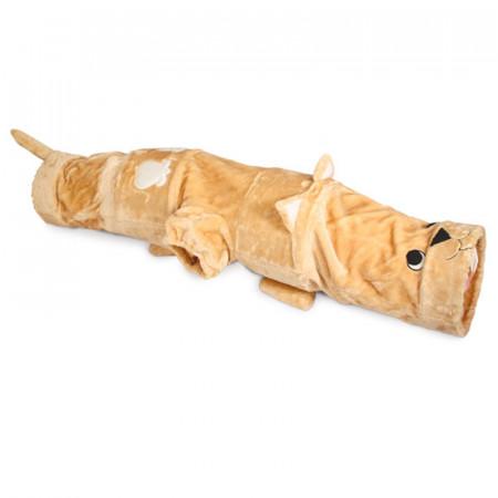 Тоннель для кошек Triol Прятки, плюшевый, М, 25х25х140 см