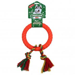 Игрушка для собак Сибирский пес СуперКольцо, 2 веревки 2 узла 18 см