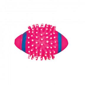 Игрушка для собак Triol Мяч для регби с шипами, винил, с пищалкой 11.5 см