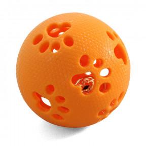 Мячик для собак Triol из термопластичной резины с лапками, с колокольчиком 8 см