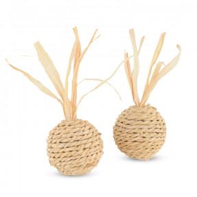 Набор игрушек для кошек Triol Мяч из кукурузных листьев 2 шт х 4 см