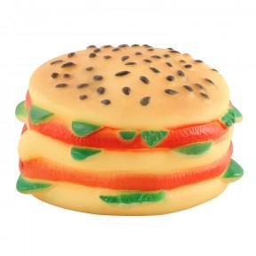 Игрушка для собак Triol Чизбургер, винил, с пищалкой 9х 5 см