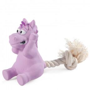 Игрушка для собак Triol Mini Dogs Лошадка с веревкой, латекс, с пищалкой 16.5 см