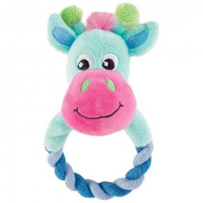 Игрушка для щенков Triol Puppy Жираф с кольцом, с пищалкой 17 см