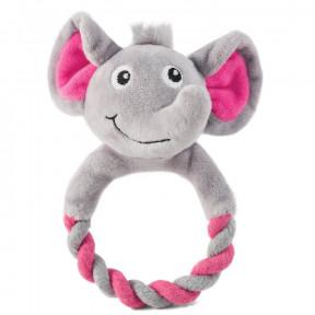 Игрушка для щенков Triol Puppy Слоник с кольцом, с пищалкой 16 см