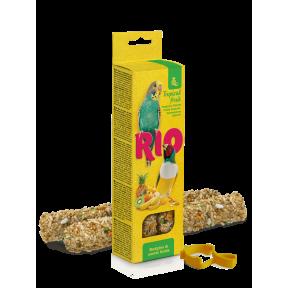 Лакомство RIO палочки для волнистых попугаев и экзотических птиц с тропическими фруктами 2x40 г